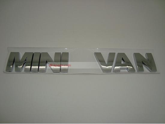 "Picture of ""Mini Van"" Chrome  Badge"