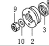 Picture of Front Diff /Rear Diff Pinion Flange Locking Nut
