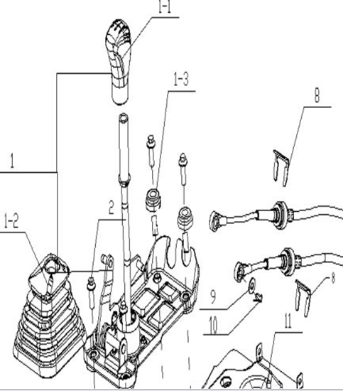 Picture of Gearshift Lever Assembly