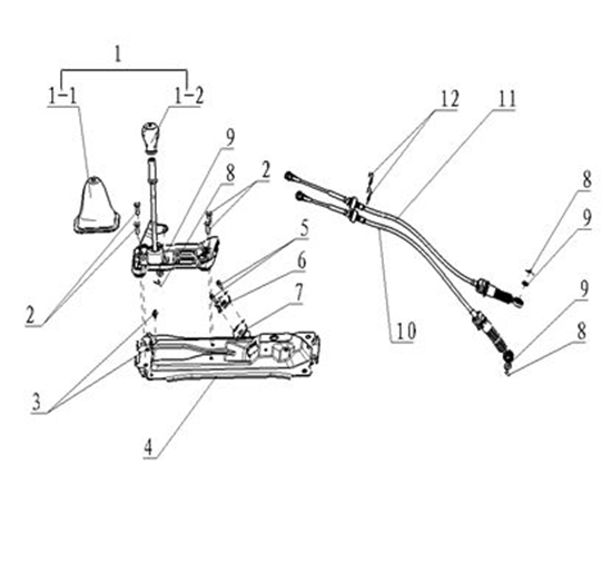 Picture of Gearshift Lever Assembly Big Cab
