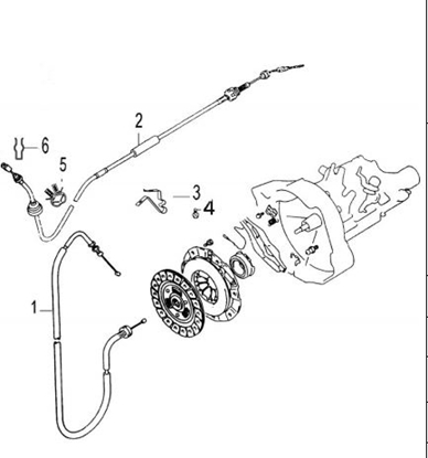 Picture of Clutch Cable 1300cc Engine