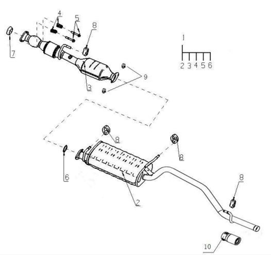 Picture of Exhaust Silencer/Tail Pipe Assembly,
