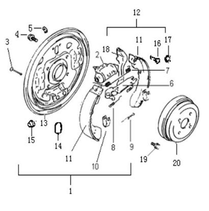Picture of Left Rear Brake Self  Adjuster Arm