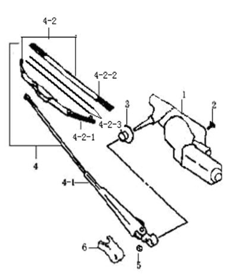 Picture of Front Windscreen Wiper Arm  ( Left Hand Drive)