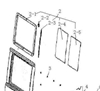 Picture of Left Rear Door Front Sliding Window Glass