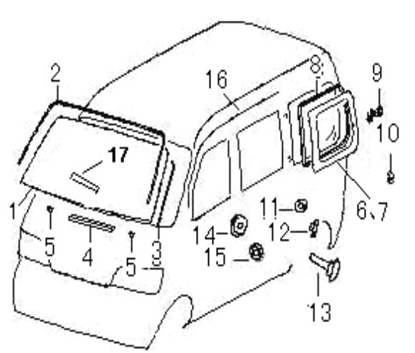 Picture of Windscreen, Front