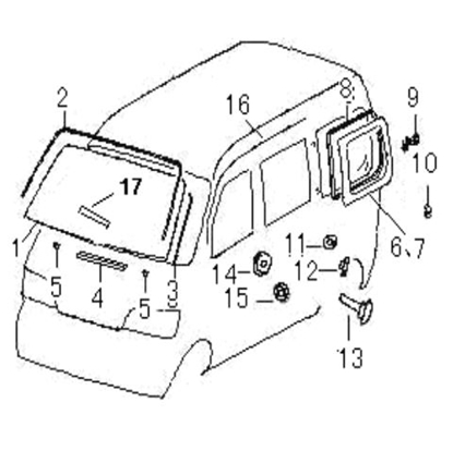 Picture of Front Windscreen Side Sealing Strips