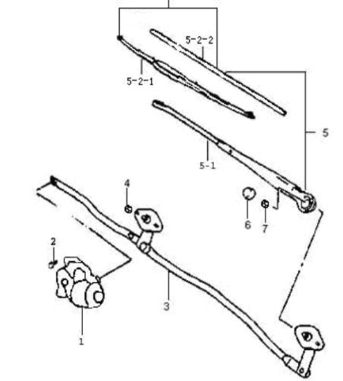 Picture of Wiper Motor, Front