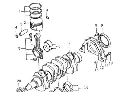 Picture of Engine Piston Ring Kit. Standard Bore Size 1000cc Engine