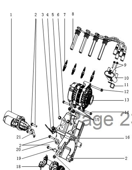 Picture of Ignition Coil 1200cc Engine