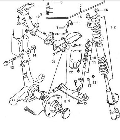 Picture of Left Front Lower Suspension Arm. C31/C32 Models