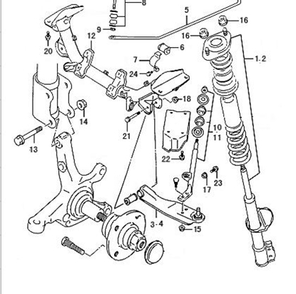 Picture of Left Front Suspension Shock Absorber Assembly( Big Cab Pickup Model) ABS Type