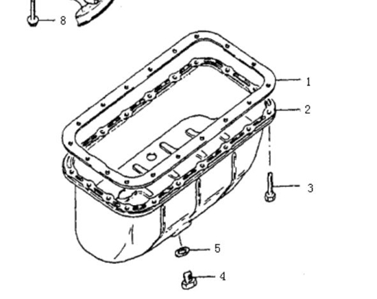 Picture of Engine Sump Gasket - 1000cc Engine