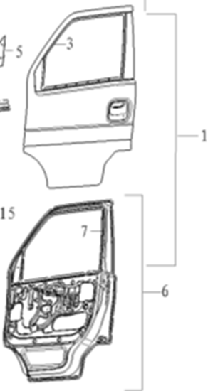 Picture of Front Left Door Assembly